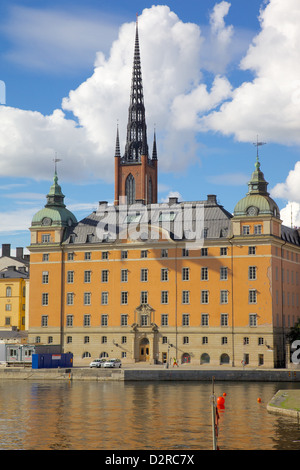 Spire of Riddarholmskyrkan (Riddarholmen Church), Riddarholmen, Stockholm, Sweden, Europe - Stock Photo