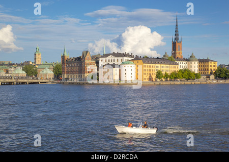 City skyline from City Hall, Stockholm, Sweden, Europe - Stock Photo