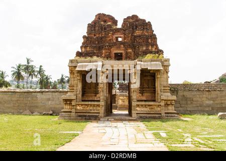 Also known as Tiruvengalanatha Temple, Achyutaraya Temple is located at the foot of Matang Hill, Hampi, India - Stock Photo