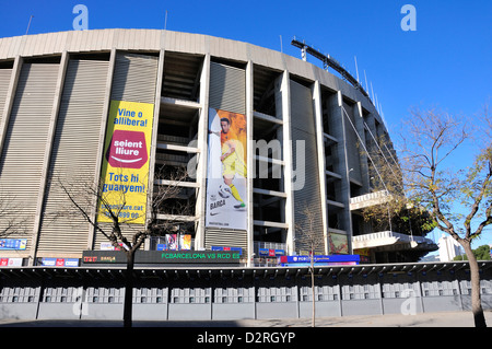 Barcelona, Catalonia, Spain. Camp Nou football stadium (1957) home of F C Barcelona - Stock Photo