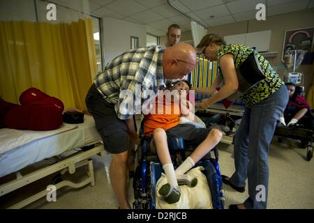 Sept. 3, 2011 - Montgomery, AL - NOLA SAYNE'S profoundly disabled son ZACH was only ten years old when she was forced - Stock Photo