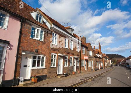 Houses along Whielden Street, Old Amersham, the Chilterns, Buckinghamshire, England, UK - Stock Photo