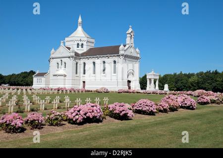 The Chapel of Notre Dame de Lorette, Notre Dame de Lorette French National Memorial & Cemetery, nr Arras, France. - Stock Photo