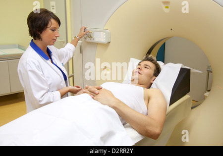 Essen, Germany, computed in hospital - Stock Photo