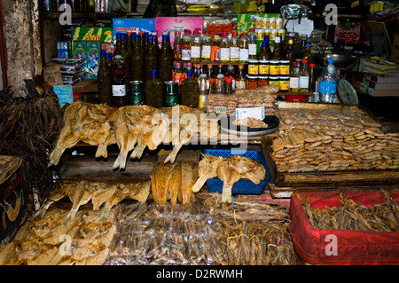 central market spice stall, port louis, mauritius - Stock Photo