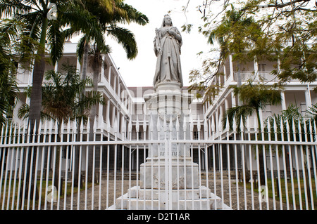 queen victoria monument, government house, port louis, mauritius - Stock Photo