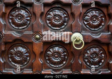 door, jummah mosque, port louis, mauritius - Stock Photo