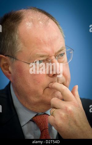 Berlin, Germany, Peer Steinbrueck, SPD, in Portrait - Stock Photo