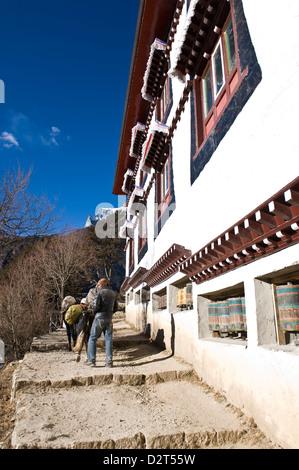 Namche Gompa (Monastery), Namche Bazaar, Solu Khumbu Region, Nepal, Himalayas, Asia - Stock Photo