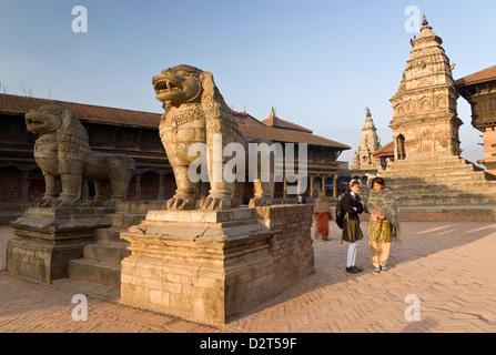 Siddhi Lakshmi Mandir, Durbar Square, Bhaktapur, UNESCO World Heritage Site, Kathmandu Valley, Nepal, Asia - Stock Photo