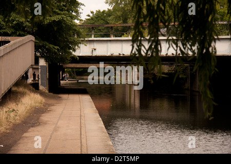 Bridge over Grand Union Canal - Stock Photo