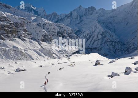 Annapurna Base Camp, Annapurna Himal, Nepal, Himalayas, Asia - Stock Photo