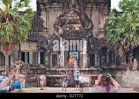 Temple Complex of Angkor Wat, Angkor, UNESCO World Heritage Site, Siem Reap, Cambodia, Indochina, Southeast Asia, - Stock Photo