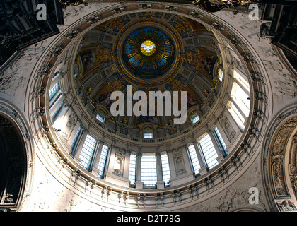 The dome, inside Berlin's Cathedral, Berlin, Germany, Europe - Stock Photo