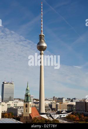 TV Tower, Berlin, Germany, Europe - Stock Photo