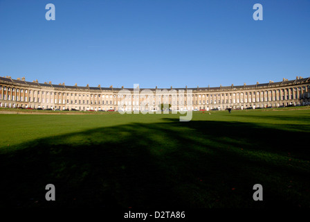 Royal Crescent perfect Georgian architecture from 18th Century in Bath, UK