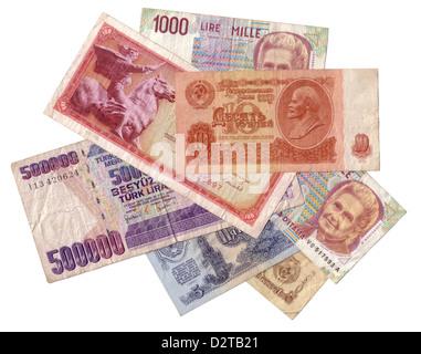 Obsolete money texture isolated - Stock Photo