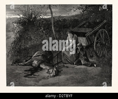 'TESS OF THE D'URBERVILLES': 'In stagnant blackness they waited through an interval which seemed endless' - Stock Photo