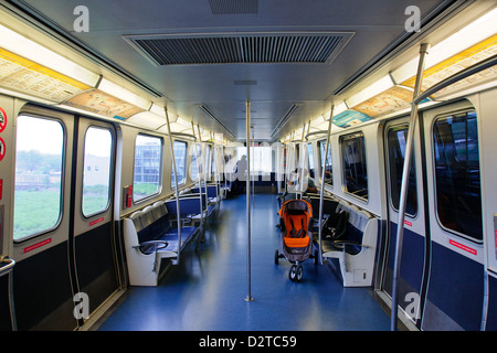 empty subway car mta new york city stock photo royalty free image 76659916 alamy. Black Bedroom Furniture Sets. Home Design Ideas