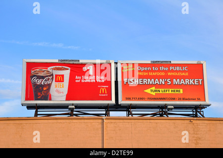 McDonalds Coca Cola billboard advertisement - Stock Photo