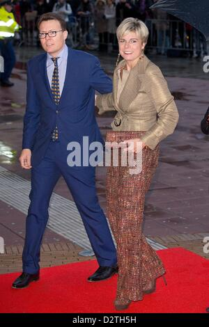 Prince Constantijn and Princess Laurentien of The Netherlands attends the 75th birthday celebration of the Queen - Stock Photo