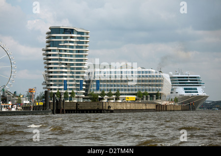 Hamburg, Germany, the Unilever building in HafenCity - Stock Photo