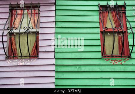 Colourful House Facade, Sultanahmet, Istanbul, Turkey - Stock Photo