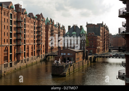 Hamburg, Germany, the surge in the warehouse district - Stock Photo