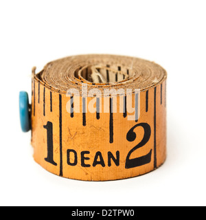 Antique tape measure by Dean of London - Stock Photo