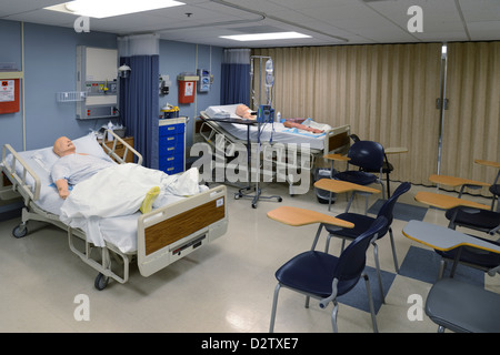 Medical School Hospital Simulation Room   Stock Photo