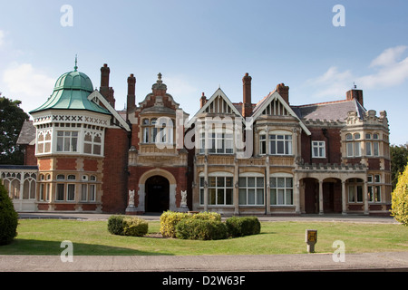 Bletchley Park Mansion, Bletchley, England. - Stock Photo