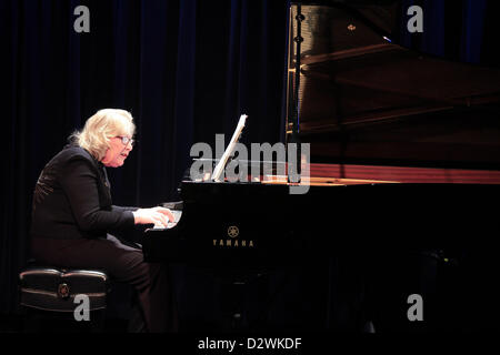 Feb. 2, 2013 - Tuxedo Ridge, NY, U.S. - Ursula Oppens plays Memo 5 duringThe Music of Now Marathon at Symphony Space's - Stock Photo
