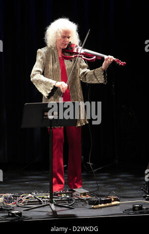 Feb. 2, 2013 - Tuxedo Ridge, NY, U.S. - Martha Mook performs duringThe Music of Now Marathon at Symphony Space's - Stock Photo