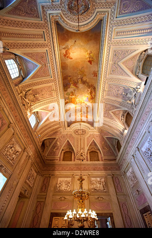 'The Room of the Bodyguards' Royal Palace of Caserta Italy - Stock Photo