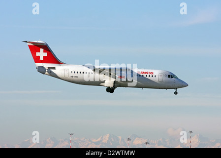 Swiss International Air Lines, British Aerospace Avro 146-RJ100 - Stock Photo