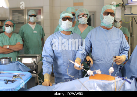 Flensburg, Germany, physicians operate in the 3D process - Stock Photo