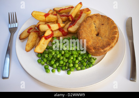 Pie chips and peas Stock Photo: 310890733 - Alamy