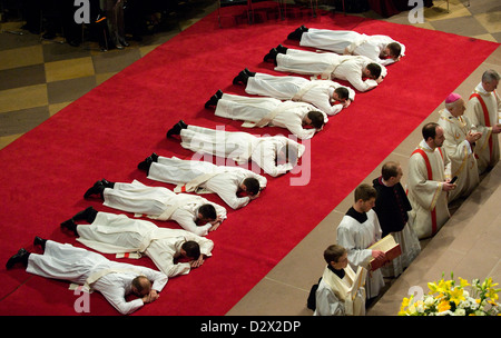 Freiburg, Germany, ordained priest in the Freiburg Muenster - Stock Photo