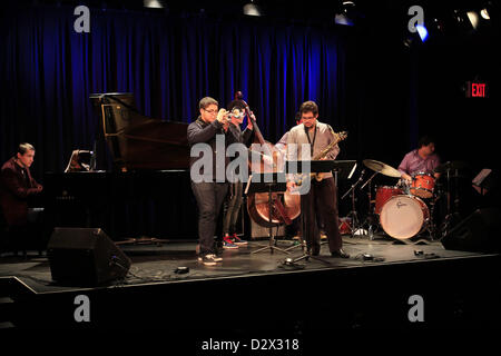 Feb. 3, 2013 - Tuxedo Ridge, NY, U.S. - Adam O'Farill performs with The O'Farrill Brothers Band during the music - Stock Photo