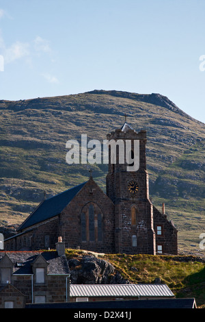 Church of Our Lady Star of the Sea at Castlebay, Isle of Barra, Outer Hebrides, Western Isles, Scotland - Stock Photo