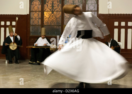 Whirling Dervish, Istanbul, Turkey - Stock Photo