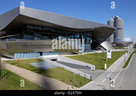 Munich, Germany, BMW Welt and the BMW Headquarters - Stock Photo