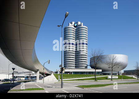 Munich, Germany, BMW headquarters and the BMW Museum - Stock Photo