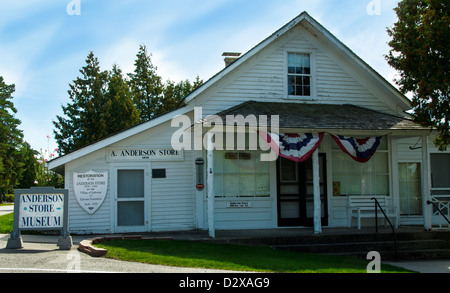The historic  A. Anderson Store in the Door County town of Ephraim, Wisconsin - Stock Photo