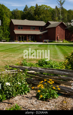 The Anderson Barn History Center in the Door County town of Ephraim, Wisconsin - Stock Photo