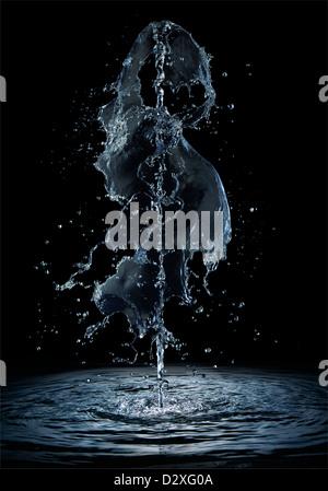 Water plume - Stock Photo