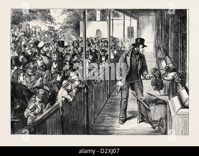 THE STATUTE HOLIDAY: THE ZOOLOGICAL SOCIETY'S GARDENS REGENT'S PARK LONDON 1871 - Stock Photo