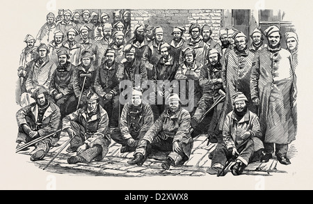 INVALIDED SOLDIERS IN THE GARDEN OF FORT PITT, CHATHAM - Stock Photo