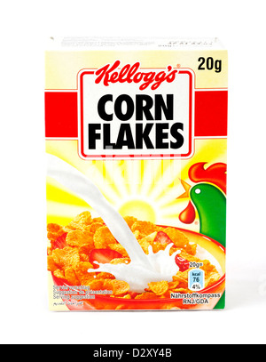 Small pack of Kellogg's Cornflakes breakfast cereal - Stock Photo