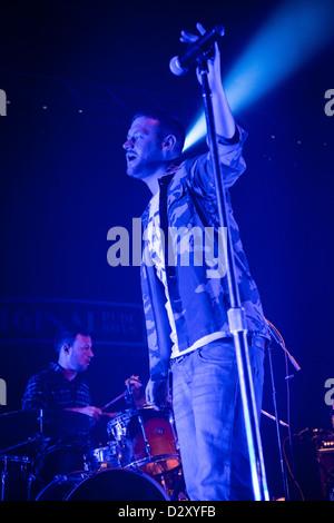 January 29, 2013 - The Original Rudeboys, Irish acoustic hip hop band from Dublin, live at the Alcatraz, Milan, - Stock Photo